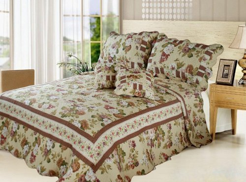 DaDa Bedding DXJ103478 5-Piece Rose Garden Cotton
