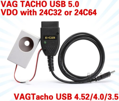 Vagtacho USB Version V5 0 Latest Version VAG Tacho USB5 0 For NEC MCU 24C32  or 24C64