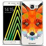 Caseink - Coque Housse Etui Galaxy A5 2016 (A510) [Crystal HD Polygon Series Animal - Rigide - Ultra Fin - Imprimé en France] - Renard