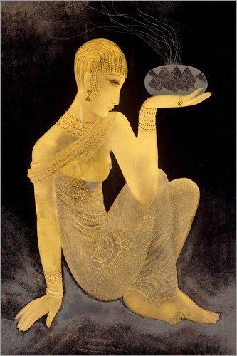 Alu Dibond 120 x 180 cm: Parfum, Mädchen mit Einem Weihrauchbrenner von Jean Dunand/ARTOTHEK