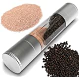 vmore Dual Salt & Pepper Grinder, Stainless Steel With Adjustable Ceramic Mechanism
