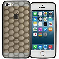 IPhone-Cover in Gel di Silicone, per iPhone 6, iPhone/6S, SE, iPhone, iPhone 5S, iPhone 5, iPhone, 5SE, plastica, Smoke Black Honeycomb Gel, iPhone SE