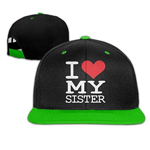 I Love My Sister Men's Hip Hop White Baseball Cap