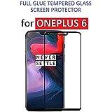 Kalgidhar ECom® OnePlus 6 (Edge To Edge - Full Glue), Full Coverage Tempered Glass Screen Protector Full Front Body Cover - (Black)