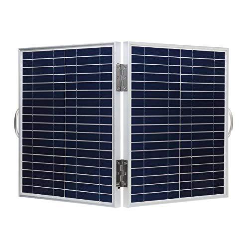 Dasd1asd12 Solarmodul-Board, 60W 18V DC IP65 Hochwertige wasserdichte Faltbare tragbare monokristalline Silizium-Solarpanel mit USB-Ausgang + Batterie-Clip-Kabel