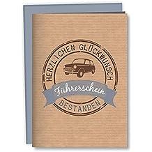 Zum Führerschein: Geschenkverpackung für ein Geldgeschenk: Mit Kuvert