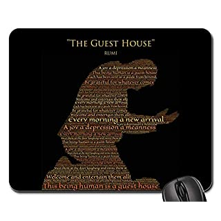 Mouse Pads - Rumi The Guest House Gratitude Thanks Welcoming