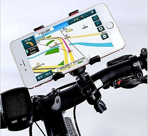 Universal Fahrrad Halterung Lenker für die meisten Handys–iPhone 65C 5S 4S, HTC One, Samsung Galaxy S5/S4, Sony Xperia Z, Google Nexus 45Moto G Phone Samsung Galaxy S3, Note 2, Lumia 520HTC One S, Lumia 920(Maximale Breite 35mm) 360Grad drehbar