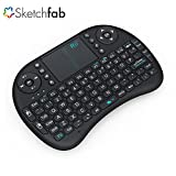 #10: Sketchfab Mini 2.4GHz Wireless Touchpad Keyboard with Mouse for PC/PAD/360XBox/PS3/Google Android TV Box/HTPC/IPTV (2.4G Black)