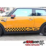 Seitenstreifen Mini Cooper England 2x 150cm MRS.134 Aufkleber Tuning Auto Autoaufkleber freigestellt `+ Bonus Testaufkleber