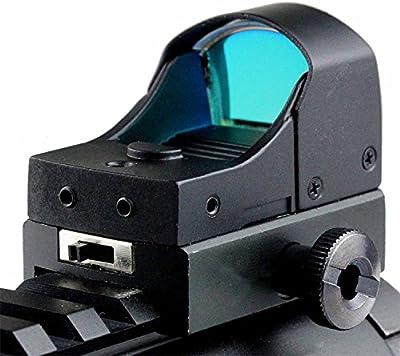 MAYMOC Mini reflejo holográfico verde + rojo punto vista alcance doble brillo Picatinny 20mm montaje en carril