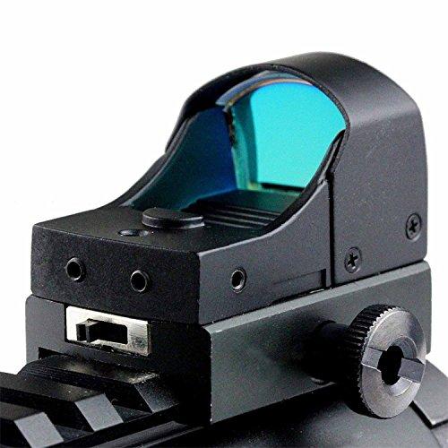 MAYMOC Mini Reflex Holographic Green + Red Dot Anblick-Bereich Dual-Helligkeit Picatinny 20mm-Schienen-Montage -