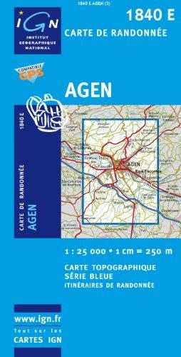 Carte de randonnée, numéro 1840E : Agen