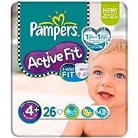 Pampers Active Fit-Pannolini, taglia 4 (9-20 kg), 6 confezioni da