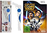 Wii Star Wars Bundle: The Clone Wars - Republic Heroes + Clone Trooper Light Gun Controller Aufsatz