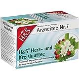H&S Herz Kreislauf Tee Filterbeutel 40 g Filterbeutel