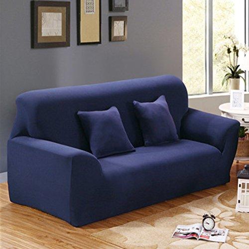 Baumwolle Feste Farbe Stretch Sofa Cover,Ganze Jahreszeit Sofa Couch Decken für Möbel Protector 1-Stück 1 2 3 4 Sitzbank-F 2 Seater (55*73inch) (Couch Loveseat Liege)