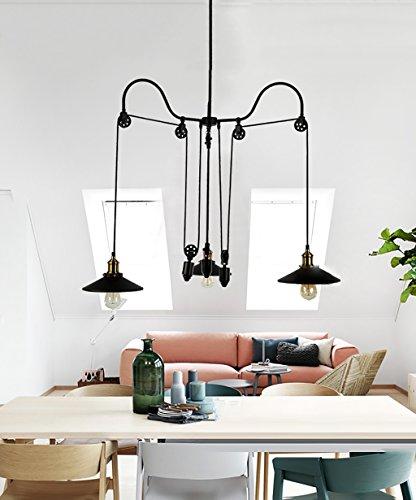 Lampadari a soffitto retro ferro 3 teste lampadario plafoniere soggiorno creativo ristorante - Amazon lampadario camera da letto ...
