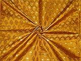 Brokat-Stoff BRO654[3] Senfgold x Metallic Gold