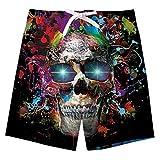 Idgreatim Jungen Badehose Kinder Shark Druckened Casual Badehose Coole Outdoor Kordelzug Board Shorts mit Taschen
