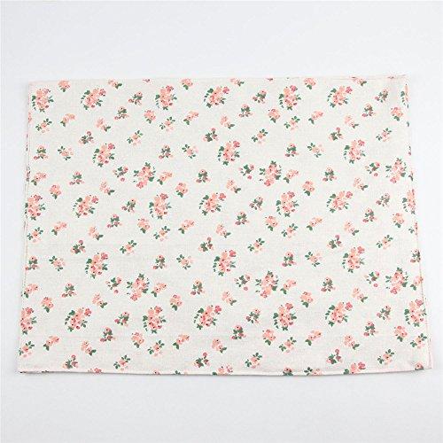 Tejido de doble capa de algodón alfombras florales para las mesas de cocina occidental pad, imagen de fondo 30*40cm.