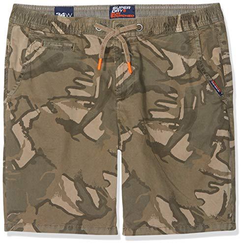 Camo Santa (Superdry Herren Sunscorched Shorts, Beige (Sand Outline Camo R2f), W(Herstellergröße: 34))