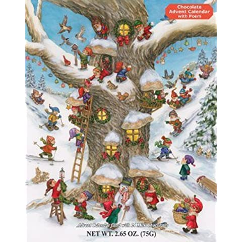 Elf Magic Chocolate Advent Calendar, 2.65 oz by Vermont Christmas Company