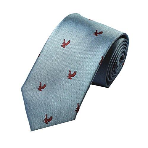 Z-P Mens Eagle Luxury Elegant Necktie Jacquard Skinny Microfiber Tie (Tie Wohnungen Bow)