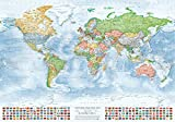 Best Mappa del mondo Poster - J.Bauer Karten Mappa politica del mondo, 100x70 cm Review