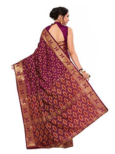 66% OFF on Mimosa Women's Tassar Silk Saree With Blouse Piece (2037