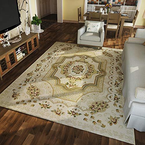 LPZ Teppich Wohnzimmer Sofa Couchtisch Zimmer Schlafzimmer Rechteckig rustikal Rot Blau Größe: 1.2x1.7M (Farbe : B, größe : 1.6X2.3M) -