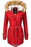 Navahoo Damen Winter Mantel Winterparka La Viva (vegan hergestellt) Rot Gr. M