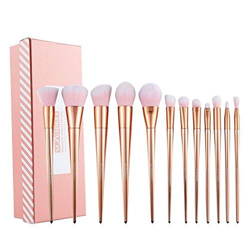 NEXGADGET Make Up Soft Pinsel Set 12 Stück Kosmetik Pinsel extra weiche und dichte Fasern Premium...