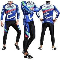 Epinki Uomo Autunno Inverno Ciclismo Jersey Coloreato per All aperto  Sportiva Ciclismo Collant Taglia M bd03ac2dc36