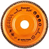 Walter Enduro-Flex Abrasive Flap Disc, Type 29, 5/8-11 Thread Size, Trimmable wood fiber Backing, Zirconia Alumina (Pack of 10) by Walter Surface Technologies