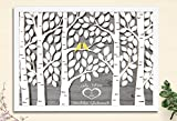 29,7x21 cm Bild mit Bilderrahmen Geburtstagsgeschenk Jubiläum Gästebuch von CristalPainting Geburtstag Taufe Kommunion Verlobung Polterabend Geschenk