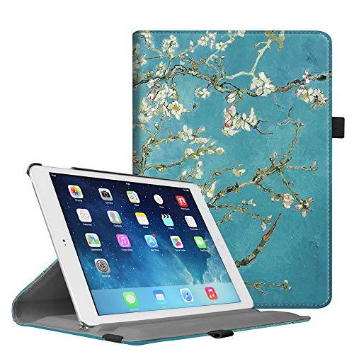 Fintie Hülle für iPad Mini 3 / iPad Mini 2 / iPad Mini – 360 Grad Rotierend Stand Kunstleder Cover Schutzhülle Case mit Auto Schlaf/Wach Funktion und Stylus-Halterung, Mandelblüten