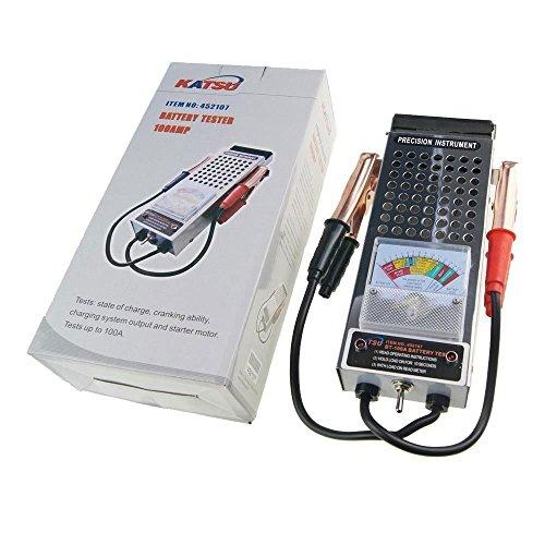 Katsu Tools - Tester 452107 per caricamento della batteria dell'automobile, 6V & 12V 100Amp