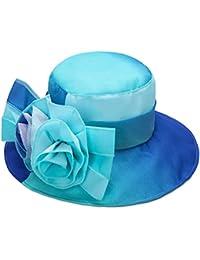 1781b15019d79 CHENGXIAOXUAN Verano Sombrero para El Sol Femenino Colores del Arco Iris  Plegable Señora Sombrero De Paño