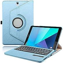 Boriyuan Tab A S Pen sm-p580P58510.1Funda con teclado, teclado inalámbrico Bluetooth Funda para Samsung Galaxy Tab A S Pen sm-p580P585de 10,1, piel, p580N p585N con libre Protector de pantalla + pantalla táctil lápiz capacitivo