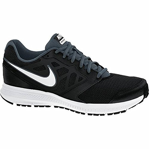 Nike Men's Downshifter 6 MSL Black, White, Dark Magnet Grey Mesh Running Shoes -10 UK/India (45 EU)(11 US)