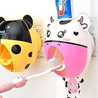 bebé niños creativos dibujos animados pasta de dientes automático dispensador, cepillo de dientes pasta de dientes dispensador de pasta de dientes exprimidor de baño