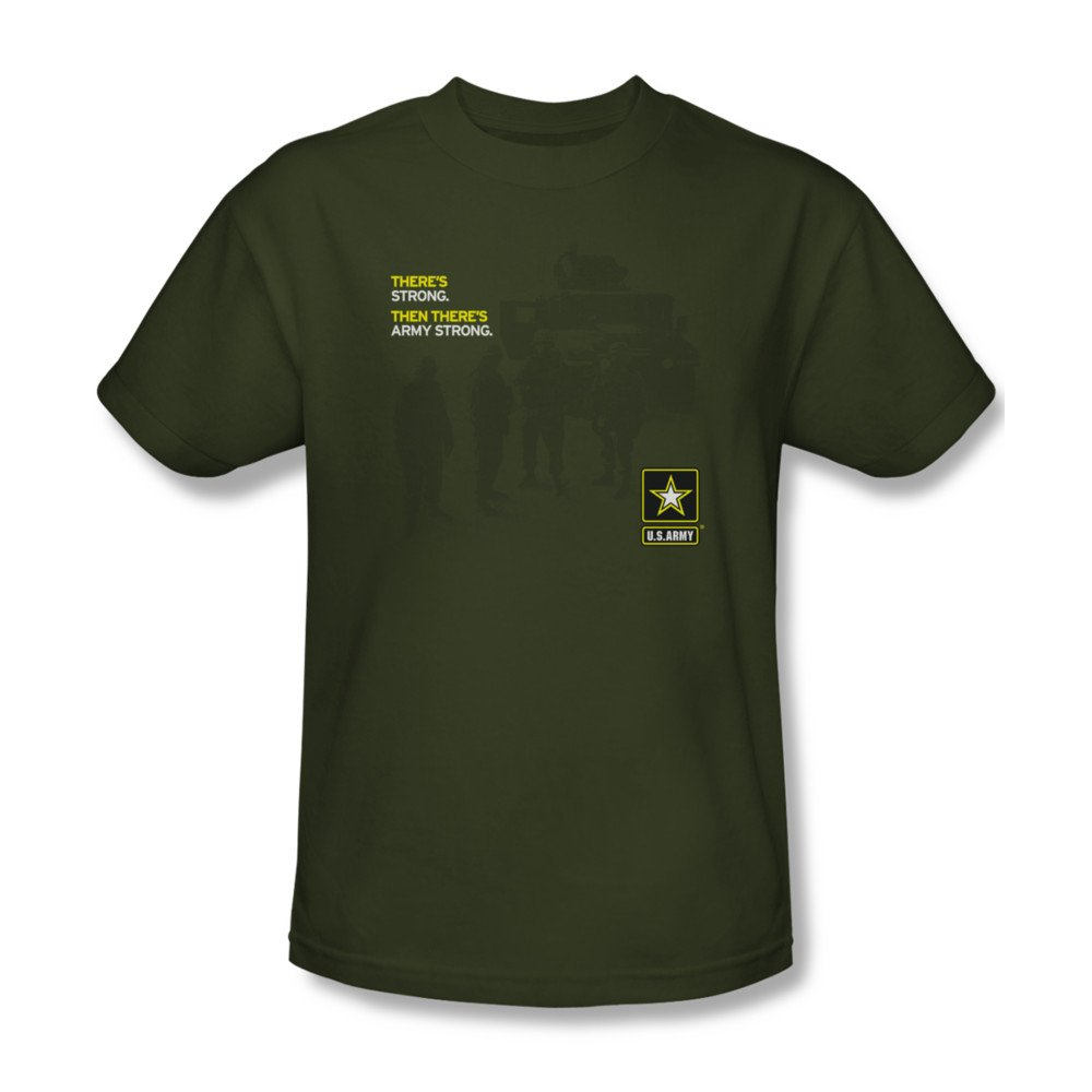 Mens ARMY Short Sleeve STRONG Large T-Shirt Tee