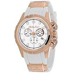 Mathey-Tissot Classic Reloj cuarzo 43mm color blanco caja de H466CHPB