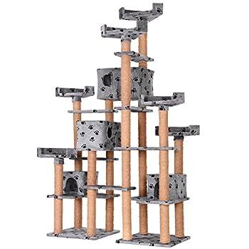 Leopet - Arbre à Chat Géant 211 cm Griffoir Grattoir Chat Montage Rapide