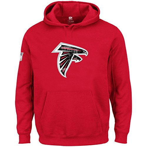 Majestic NFL Hoody - HYPER Atlanta Falcons rot - M