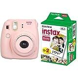 Fujifilm Instax Mini 8 Pink + 20 Shots Fotocamera Istantanea per Stampe, Formato 62x46 mm, Rosa