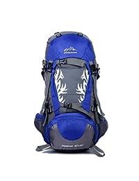 Jiuyizhe Travel Daypack Mochila de Senderismo Impermeable con Funda de Lluvia para Escalada de Alpinismo (