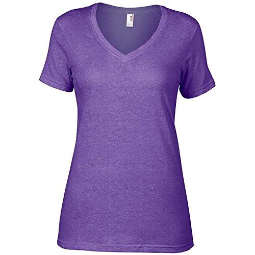 Anvil Damen Modern T-Shirt Erikaviolett