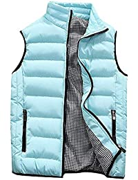 JiaMeng Abrigo de algodón Acolchado Chaleco cálido con Capucha Chaleco Grueso Tops Chaqueta Impermeable